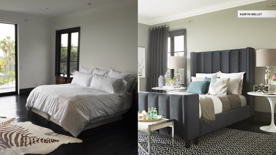 See how this master bedroom got a fabulous makeover on a for Jeff lewis bedroom designs