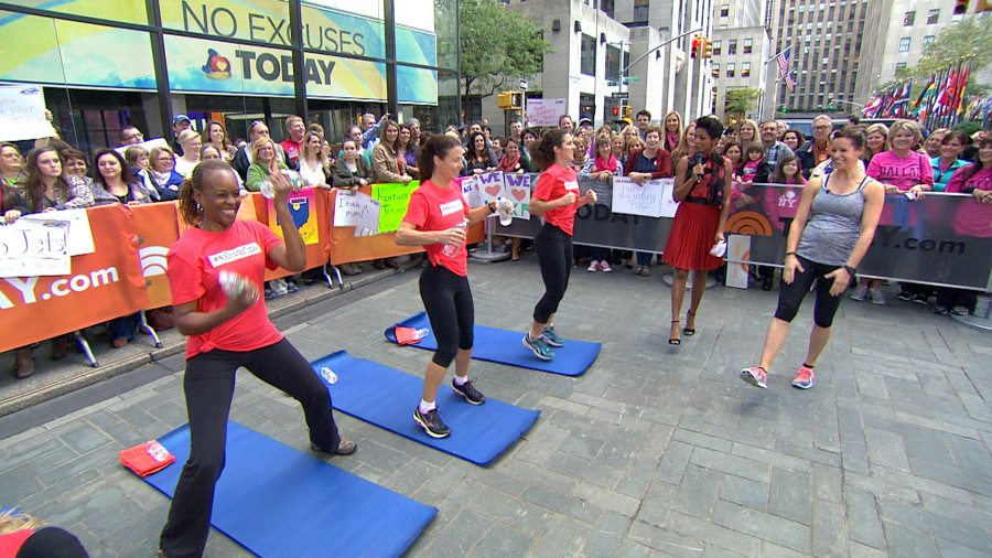 Jenna Wolfe Demonstrates Calorie Burning Workout