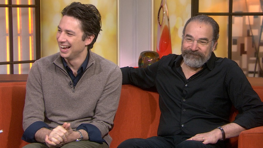 zach braff it took courage to recruit mandy patinkin