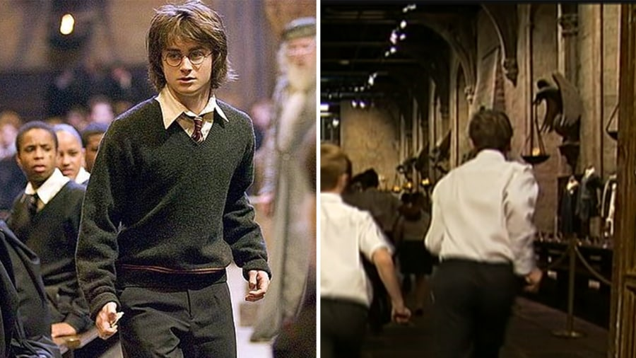Accio! Students hold real school assembly in 'Harry Potter' Great ...