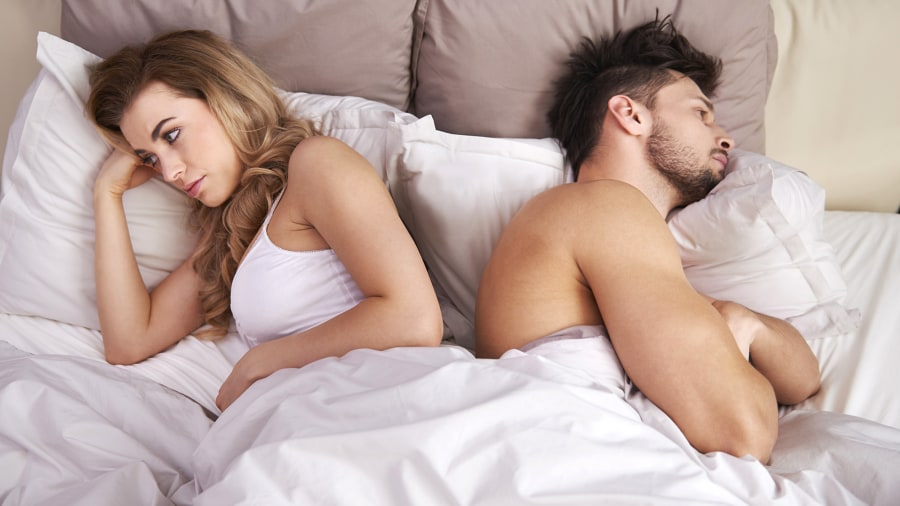 Image result for man and woman asleep backs to each other