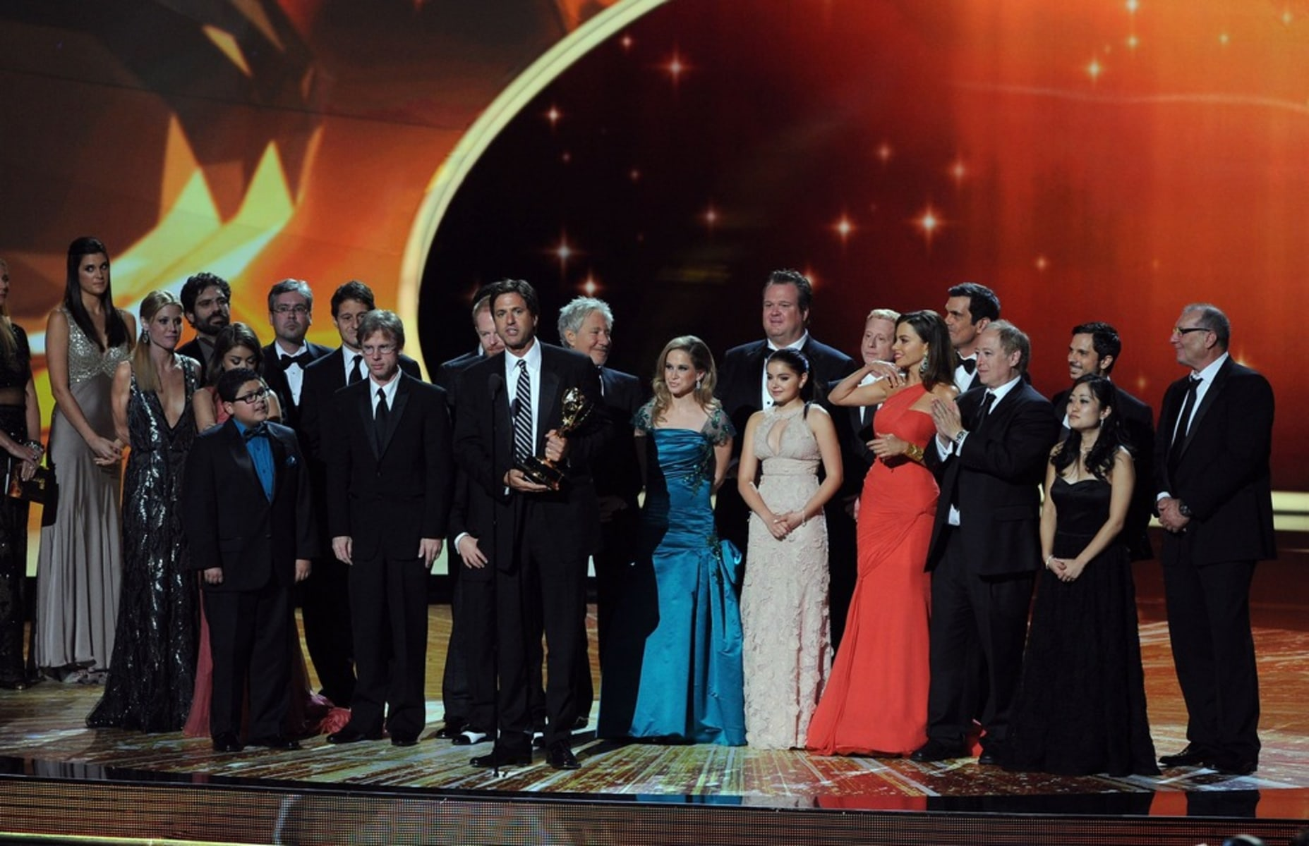 "Image: The cast & crew of ""Modern Family"""