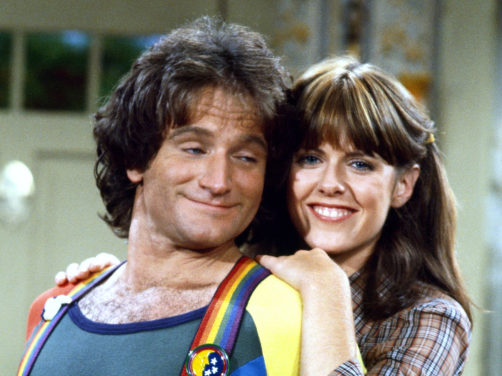 MORK & MINDY, Robin Williams, Pam Dawber, 1978-82, © Paramount Television / Courtesy: Everett Collec
