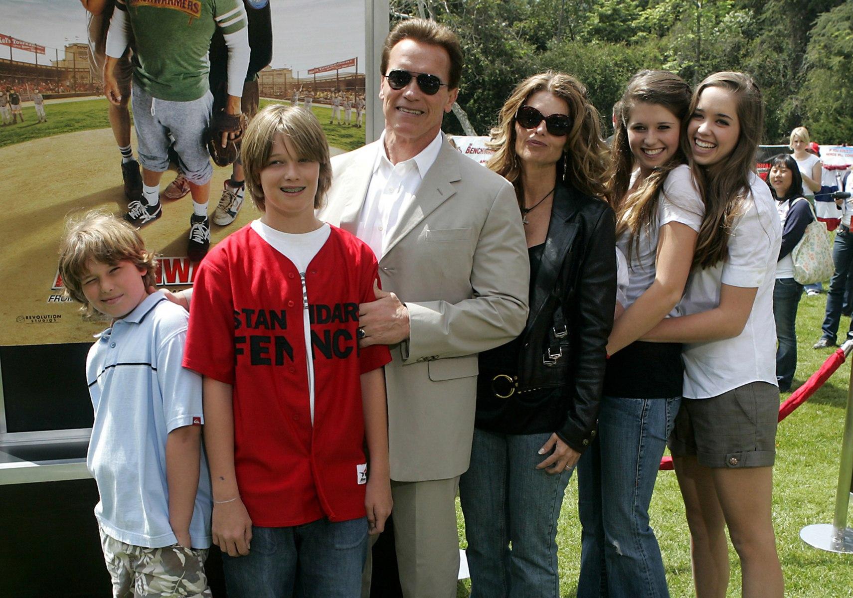 Arnold Schwarzenegger Family 2014