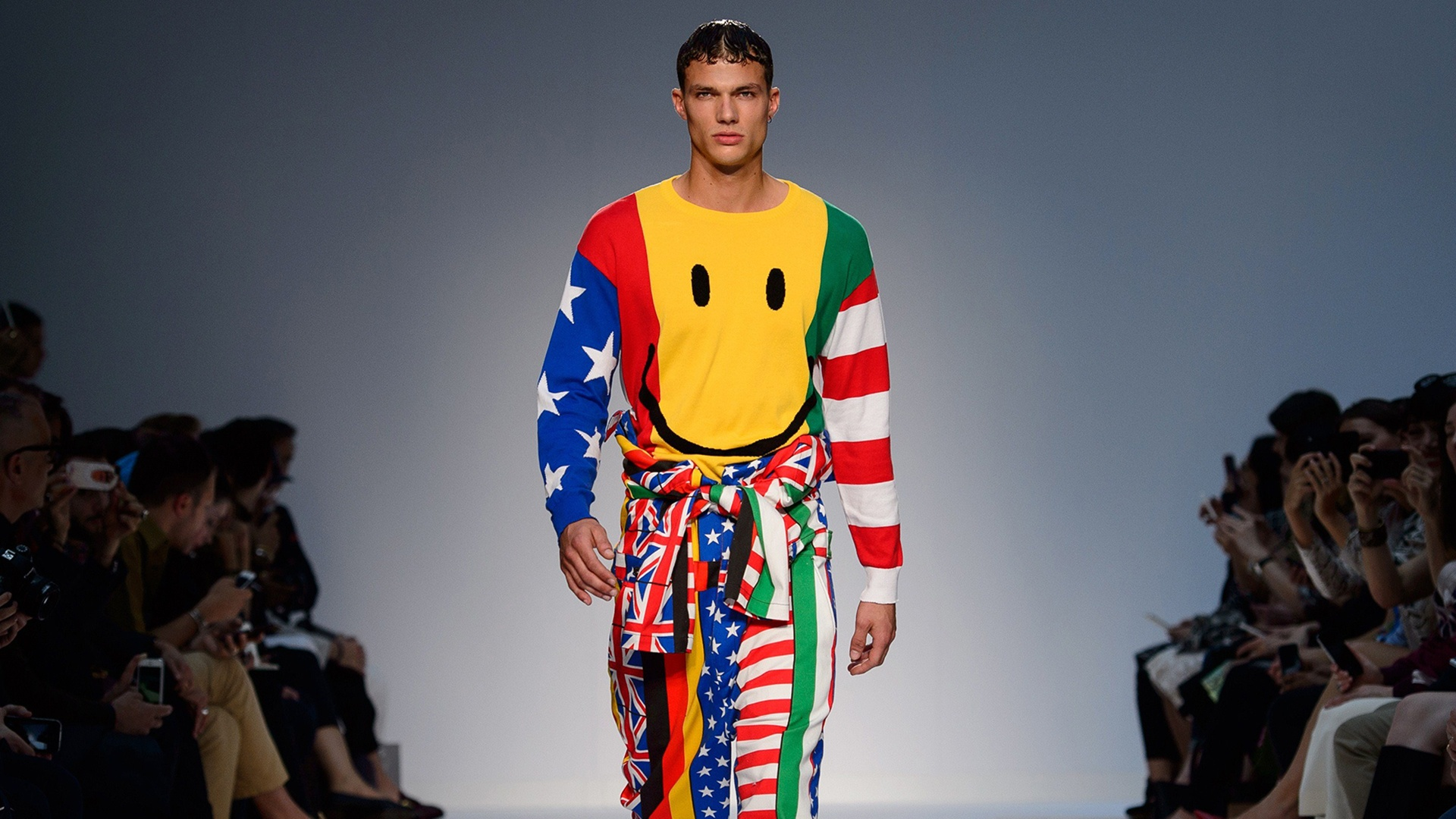 Image: BRITAIN-FASHION-MEN-MOSCHINO