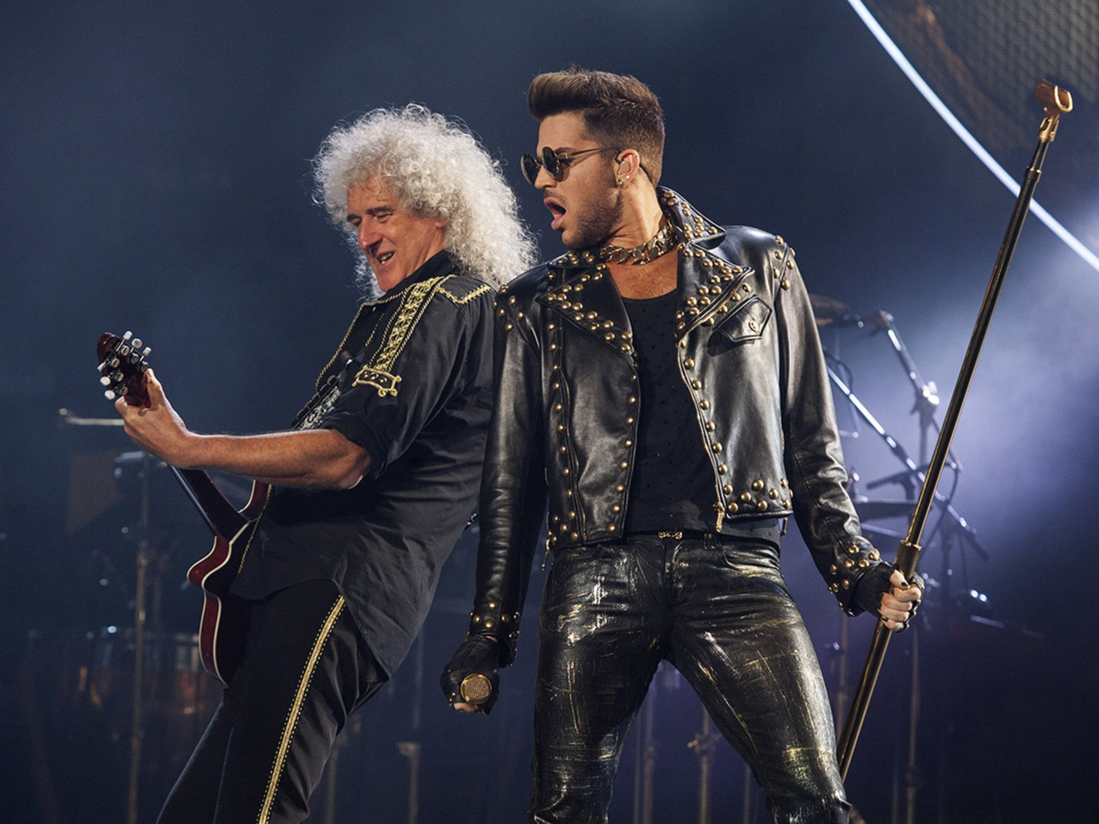 Image: Brian May, Adam Lambert