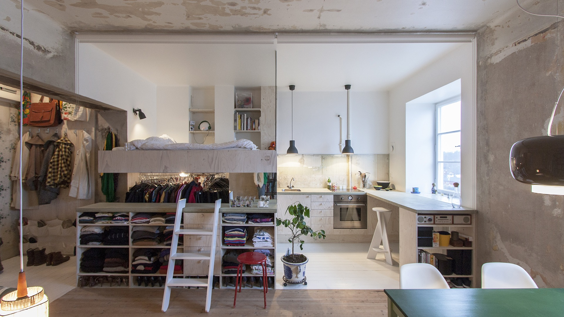 Before-and-after pics: See a storage room transform into a studio apartment