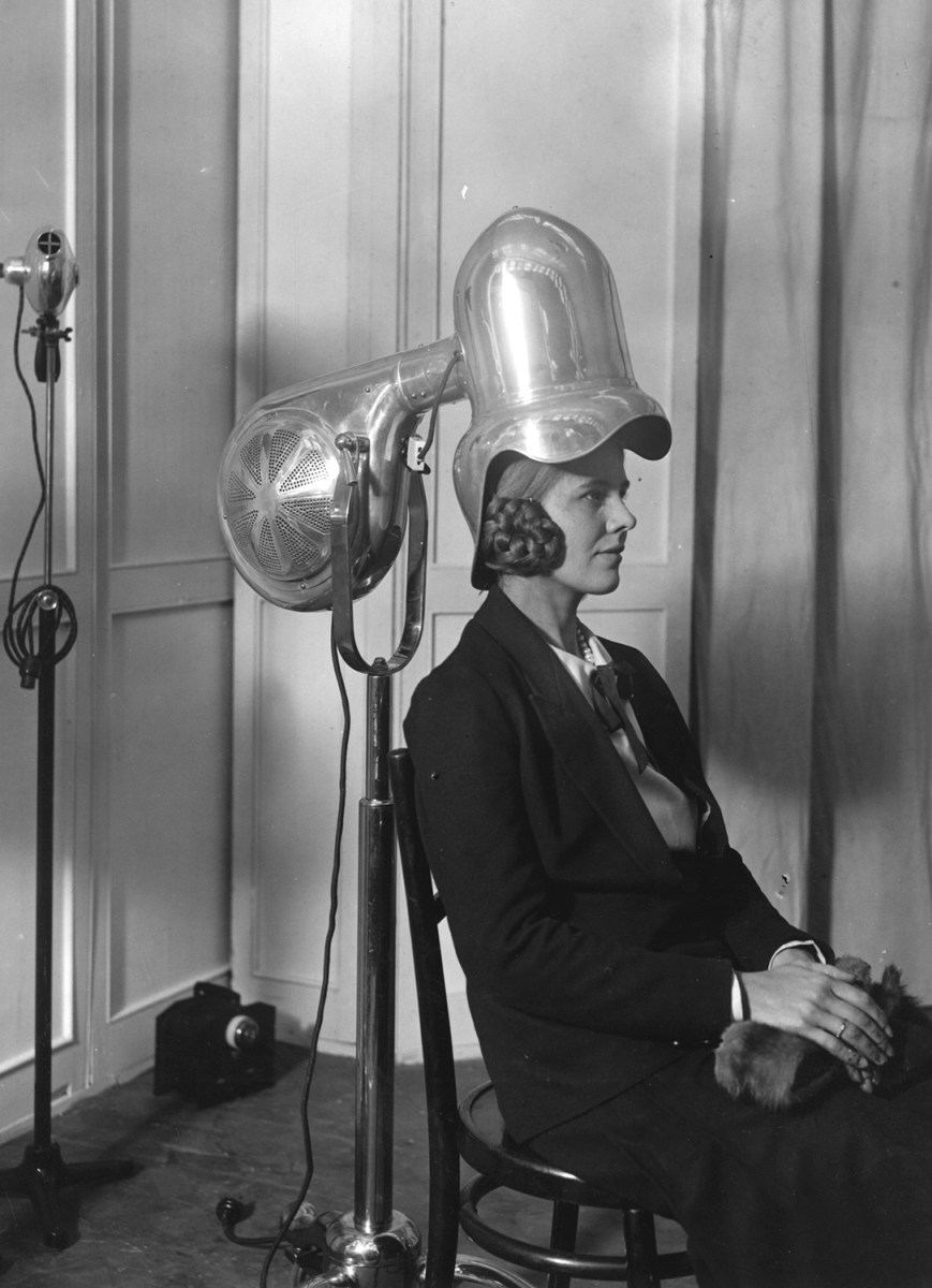 Hair Dryer 1920s ~ Curly hair cuts and styles throughout history today