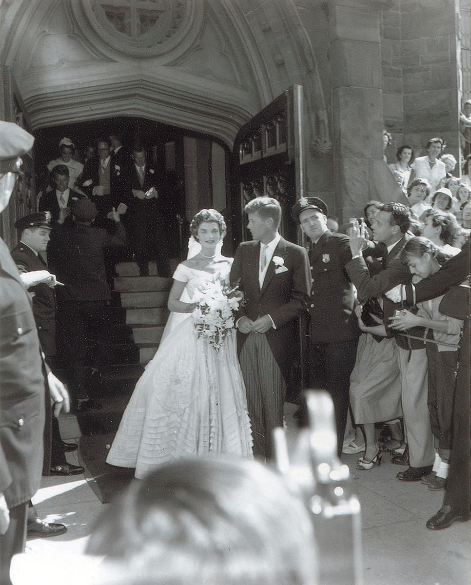 Unseen jfk jackie kennedy wedding photos up for auction today never before seen wedding photos of jfk and jackie kennedy junglespirit Choice Image