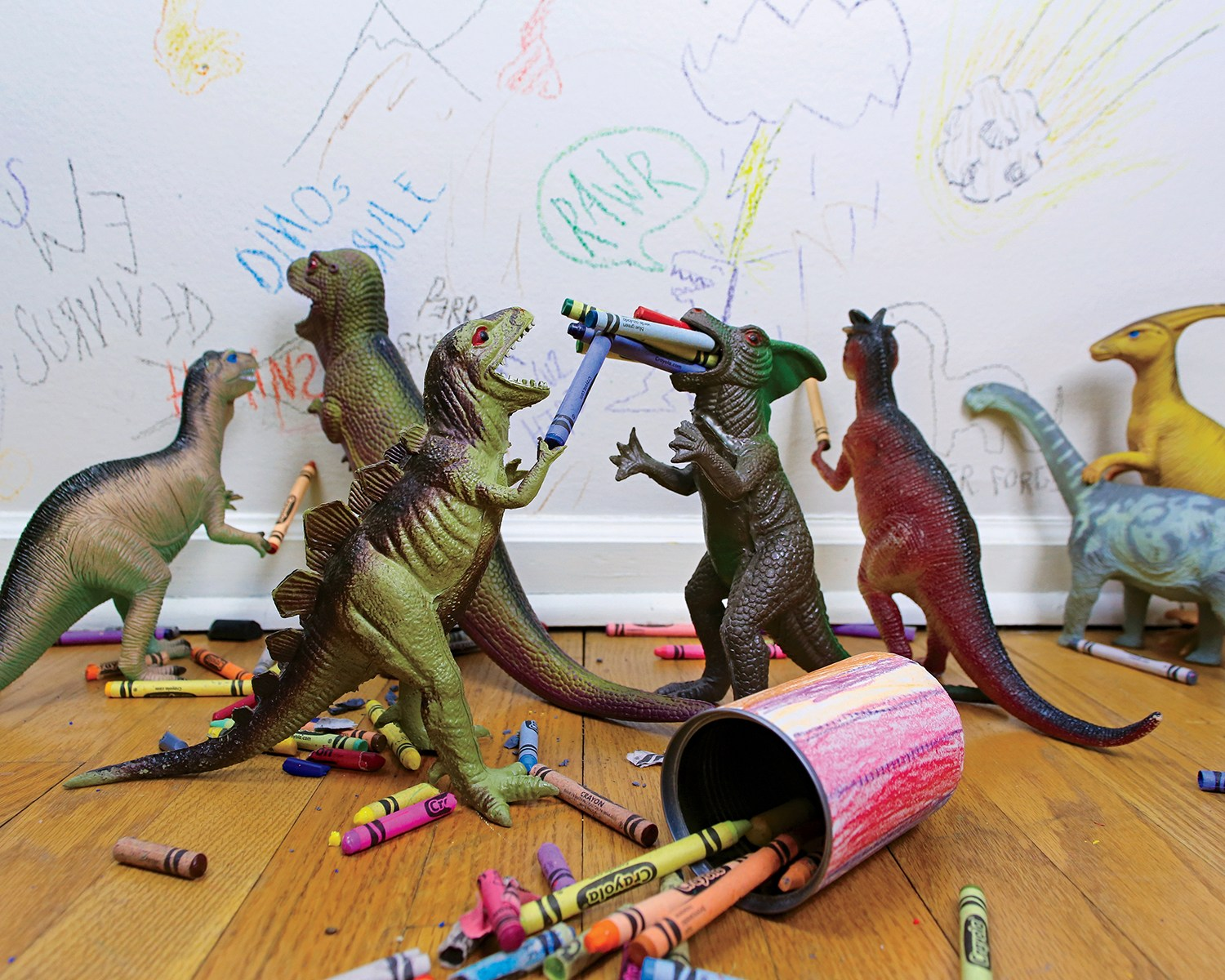 Dinovember family brings story to life with 'What the Dinosaurs Did Last Night'