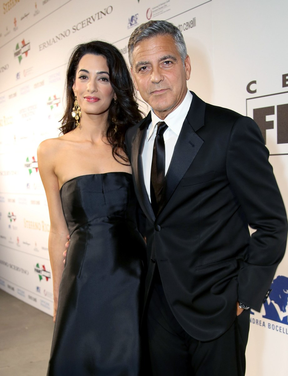Image: clooney and alamuddin