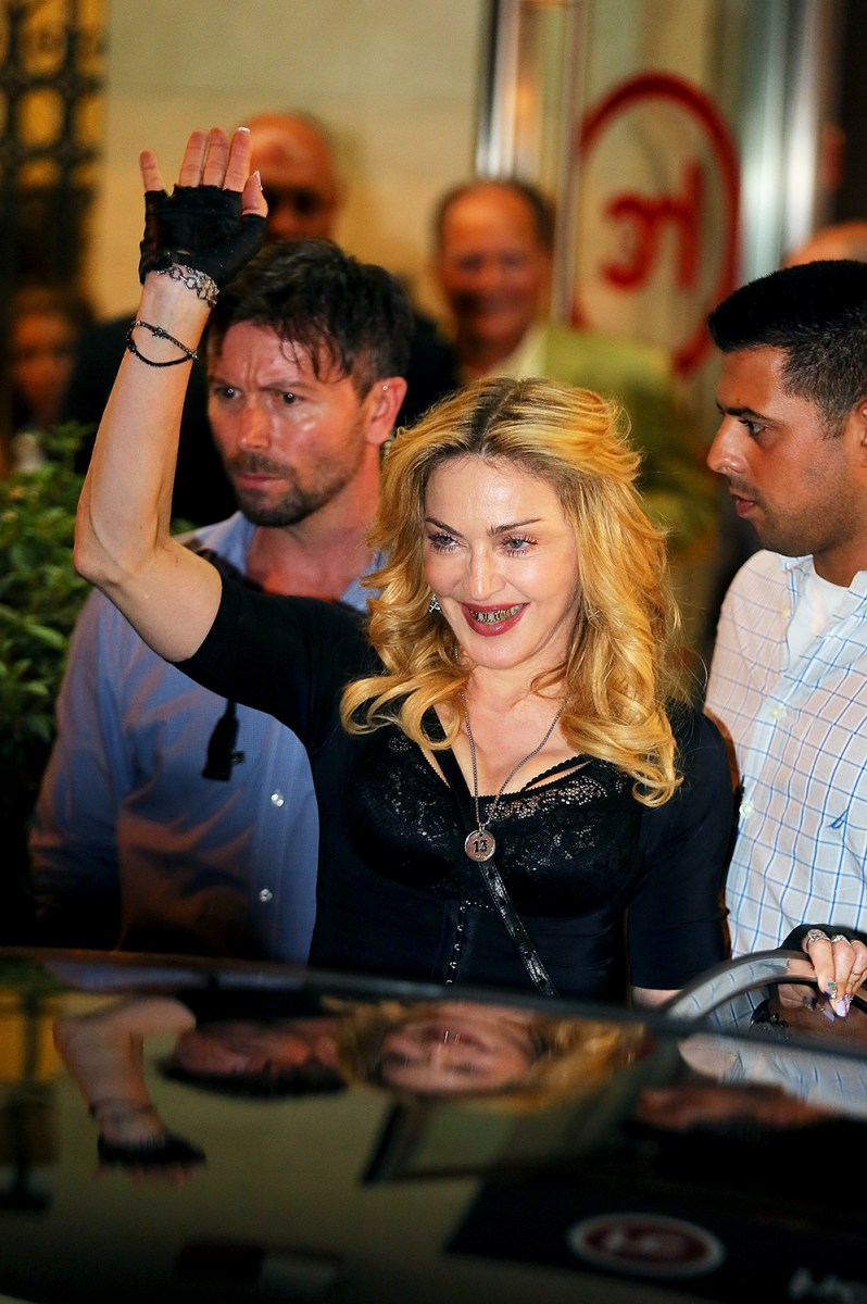 Image: Madonna Visits The Hard Candy Fitness Rome