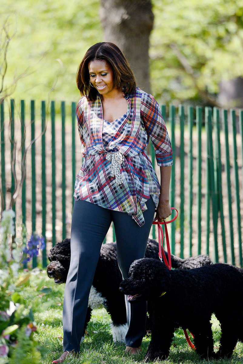 Michelle Obama's Biggest Fashion Regret? Those Gray Shorts
