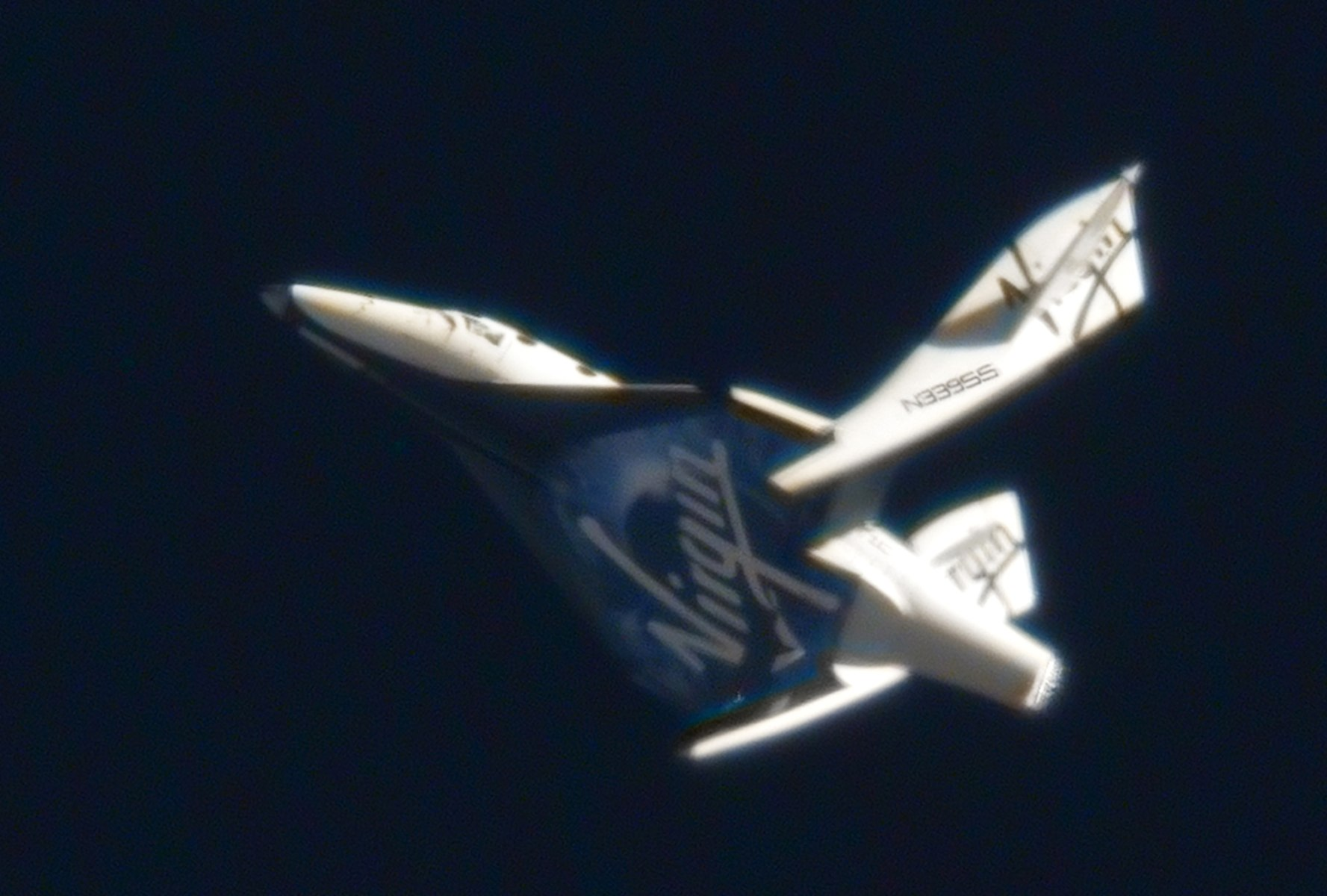 First Feather Flight (FF01) of SpaceShipTwo