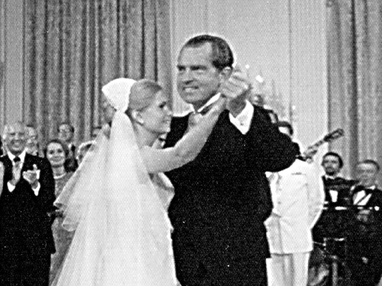 President Richard Nixon dances with his daughter