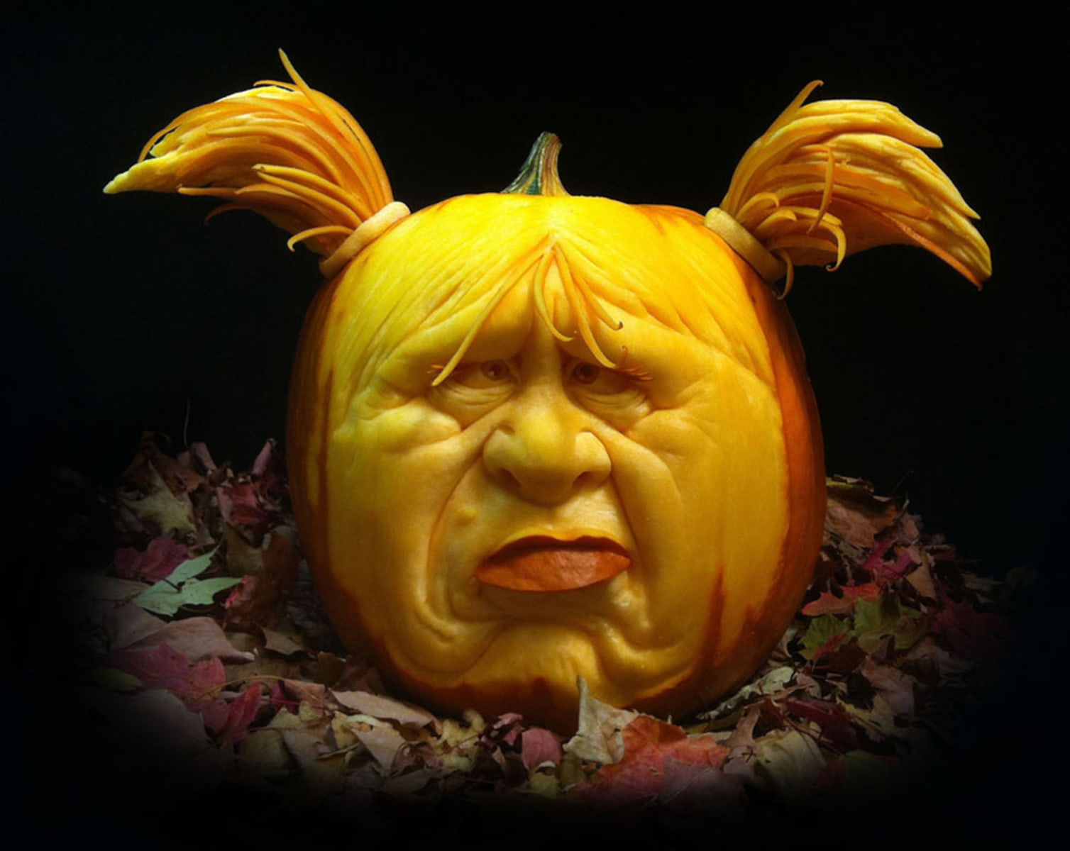 Make Pumpkin Carving A Breeze With These Easy Steps TODAYcom - Unbelievable portraits carved phone books