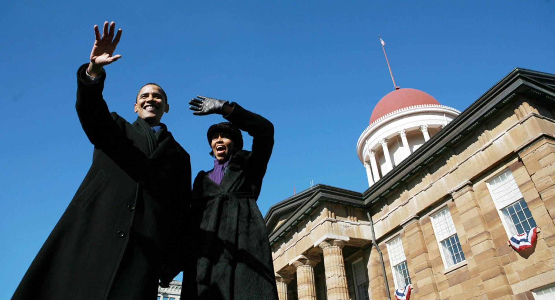 Presidential hopeful US Senator Barack O