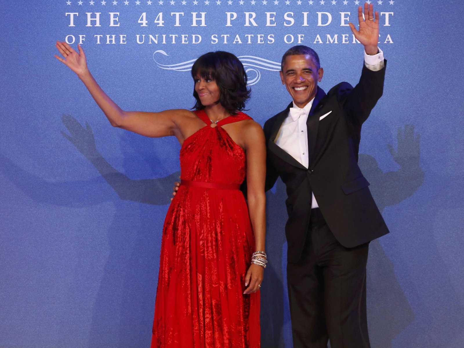 Image: U.S. President Barack Obama and first lady Michelle Obama arrive at the Inaugural Ball in Washington