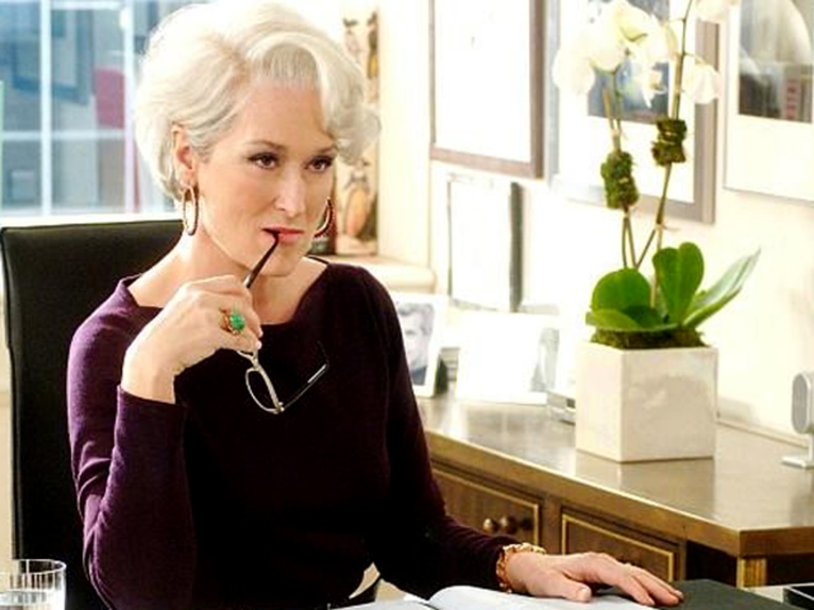 "Image: Meryl Streep in, ""The Devil Wears Prada."""