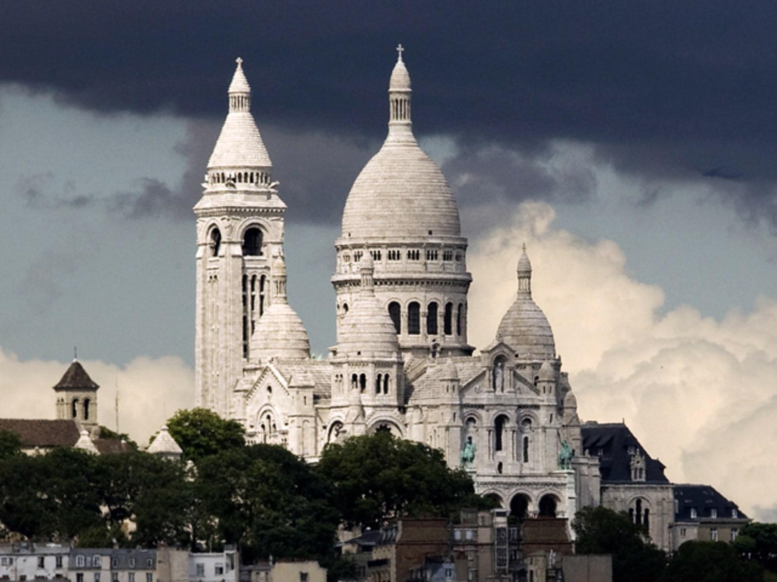 Image: The Sacred Heart (Sacre Coeur) is seen in Paris