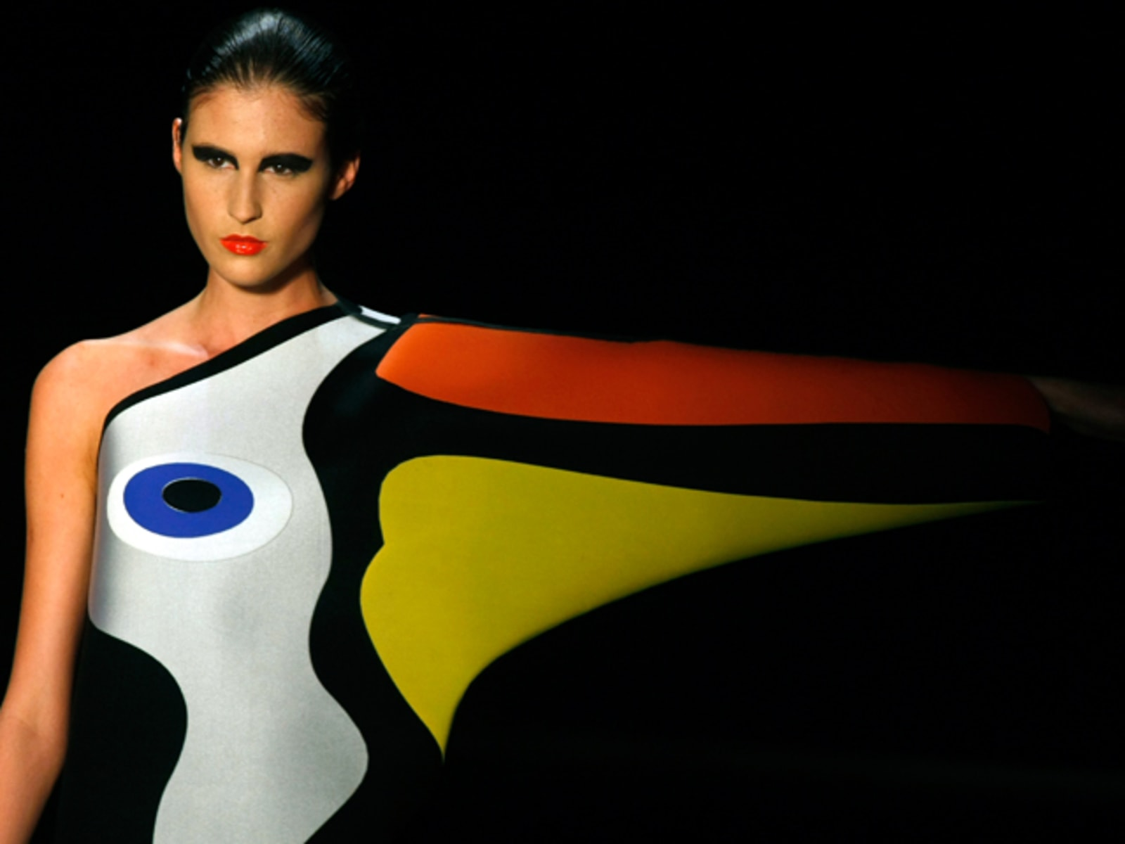 Image: A model presents a creation from Neon's Fall/Winter 2010/11 collection during Sao Paulo Fashion Week