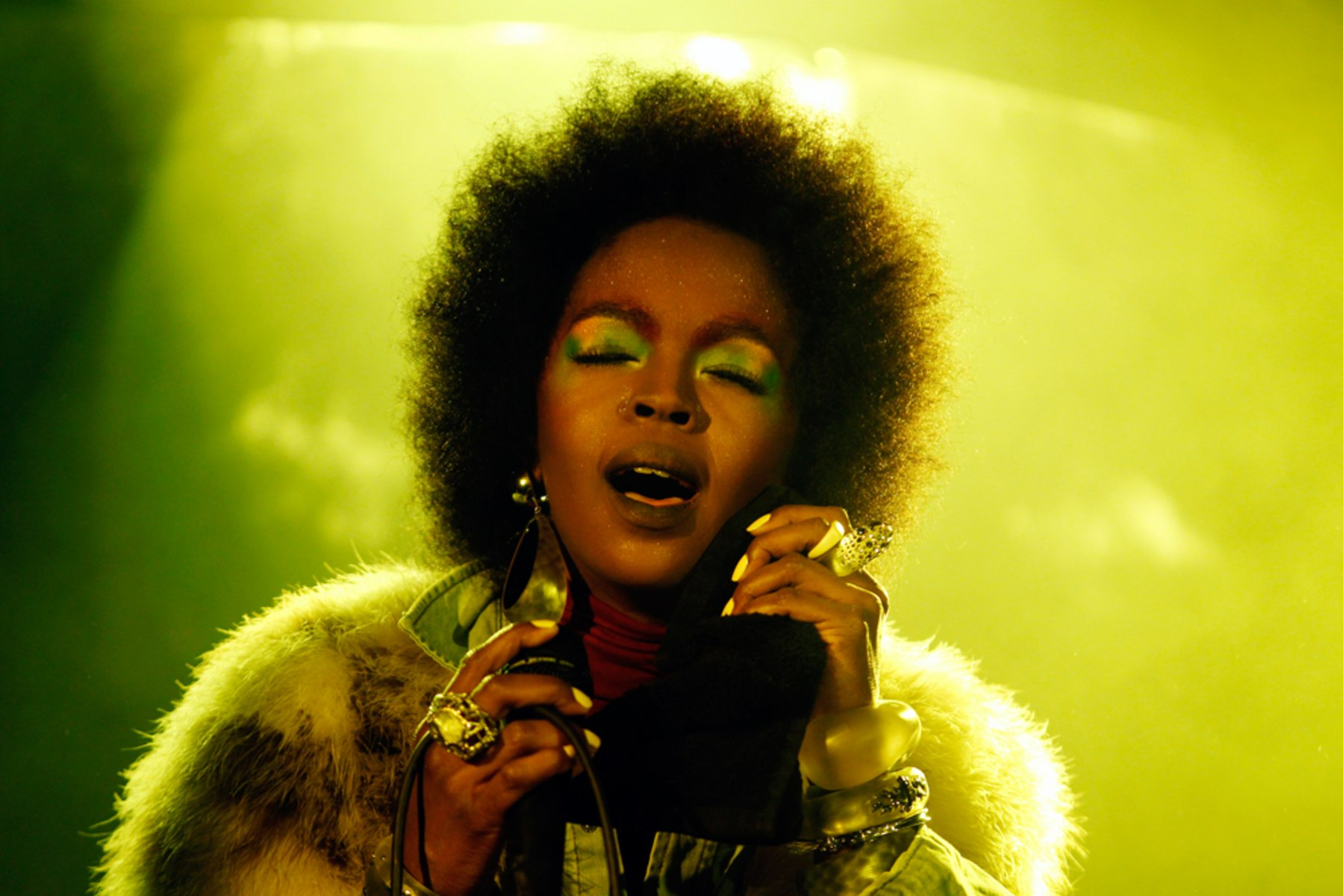 "Image: Singer Lauryn Hill performs at ""Skullcandy Sessions"" at Harry O's nightclub during the Sundance Film Festival in Park City, Utah"