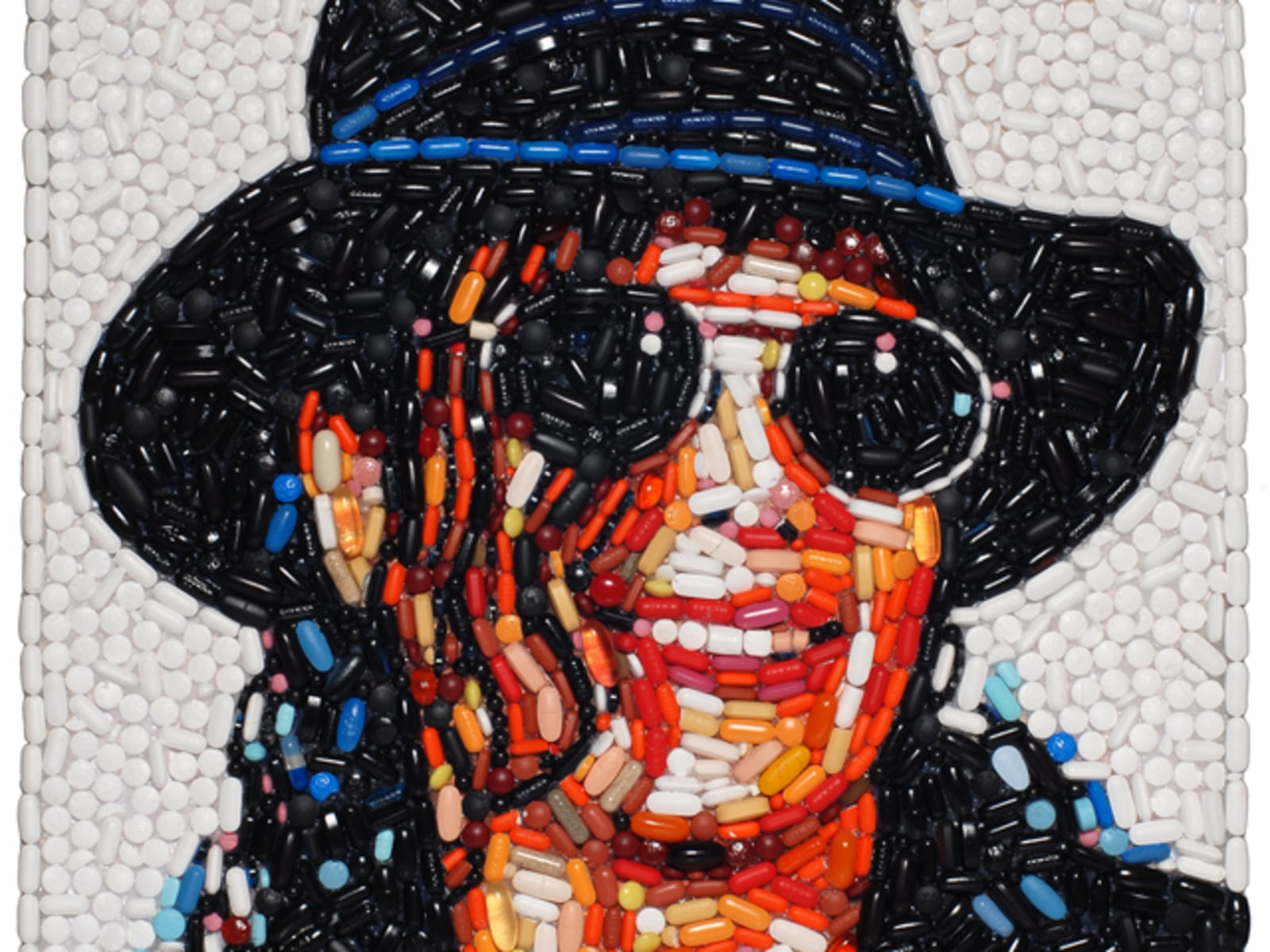 Image: Portrait made of pills by Jason Mecier