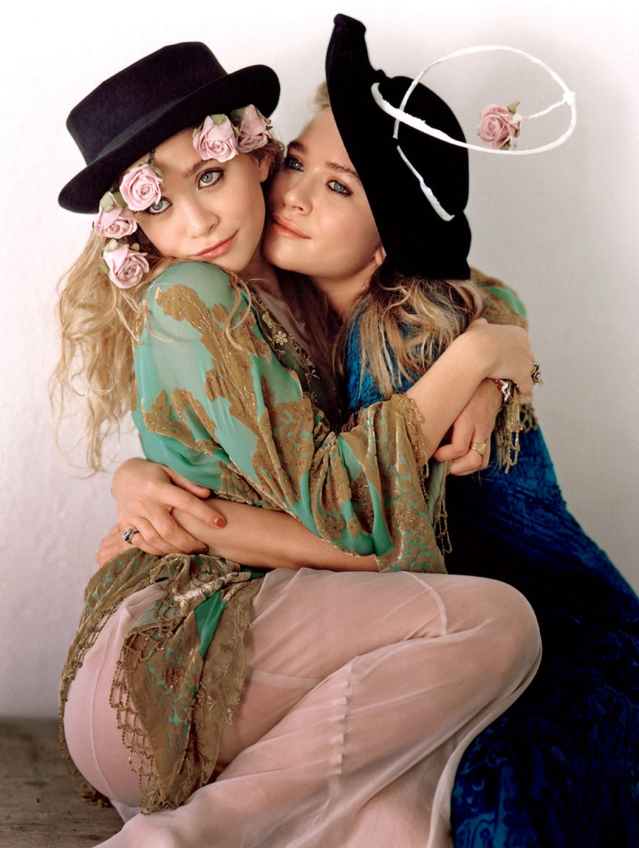 Image: Mary Kate and Ashley Olsen are seen in this undated publicity photograph