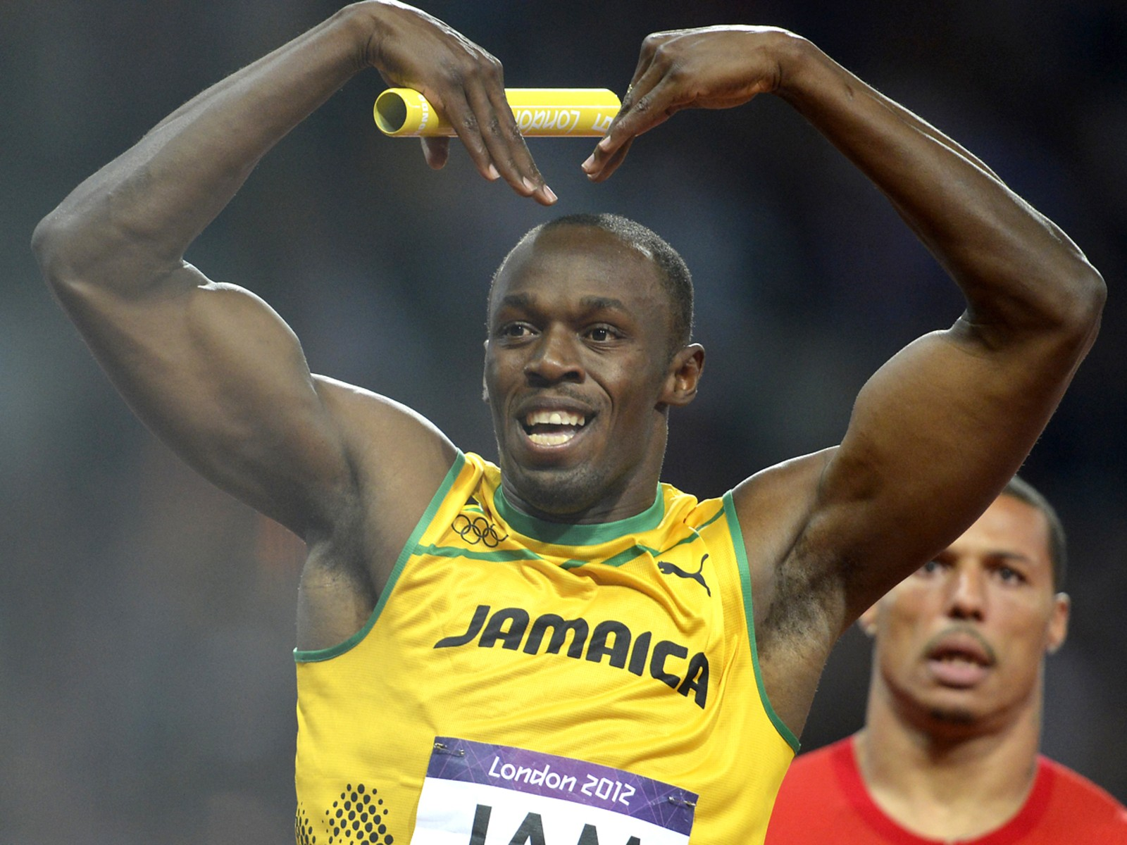 Image: Jamaica's Usain Bolt celebrates after th
