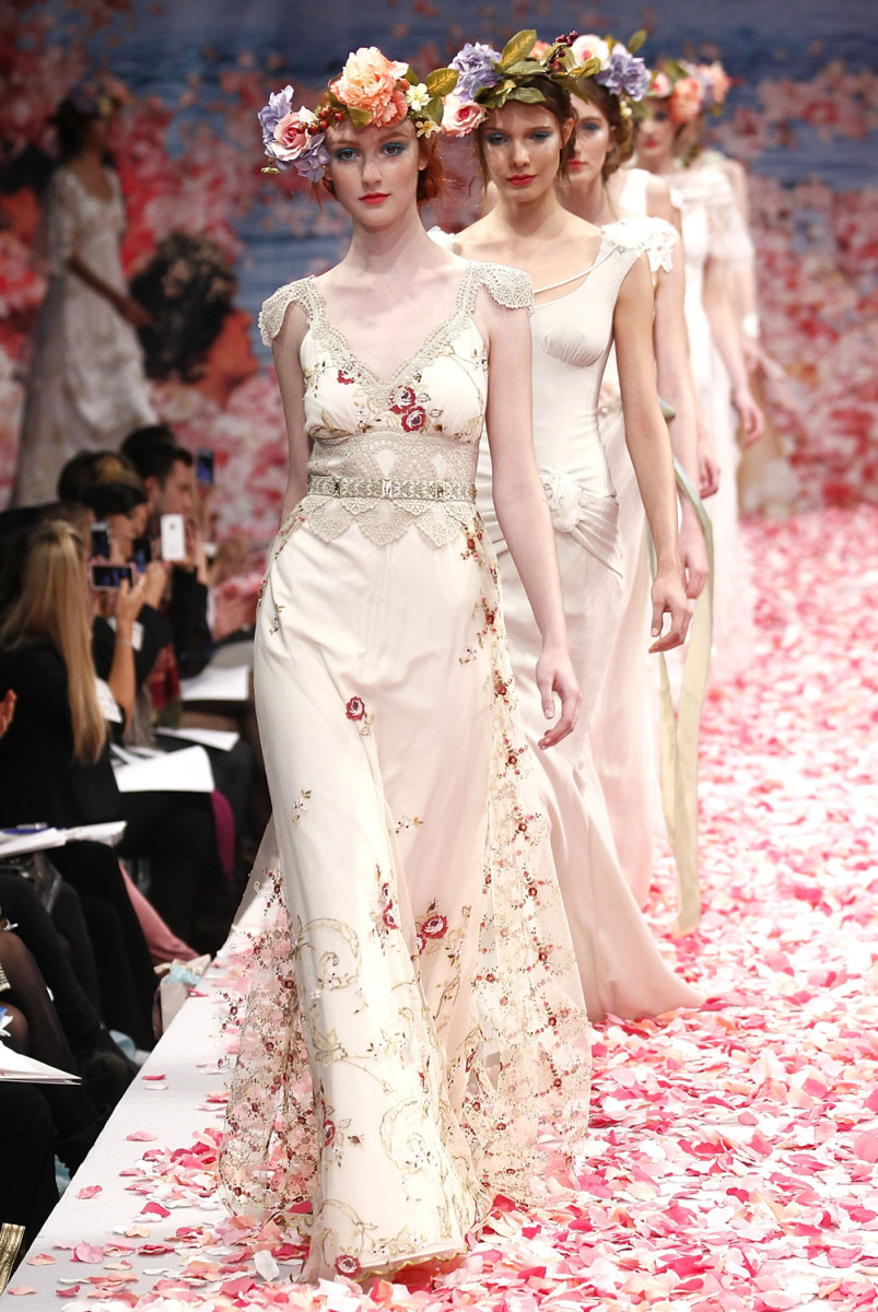 Bold bridal unique wedding gown trends today image 2013 bridal collection claire pettibone show ombrellifo Image collections