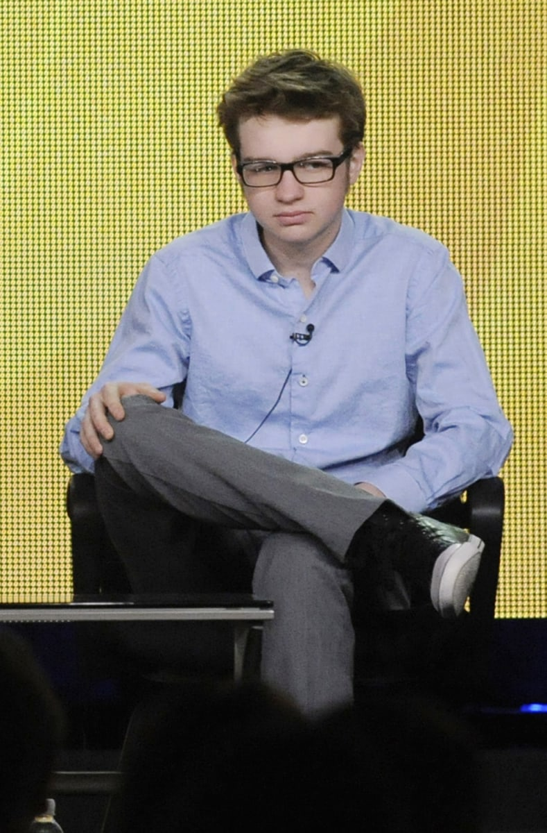"Image: File photo of ""Two and a Half Men"" cast member Angus T. Jones in Pasadena"