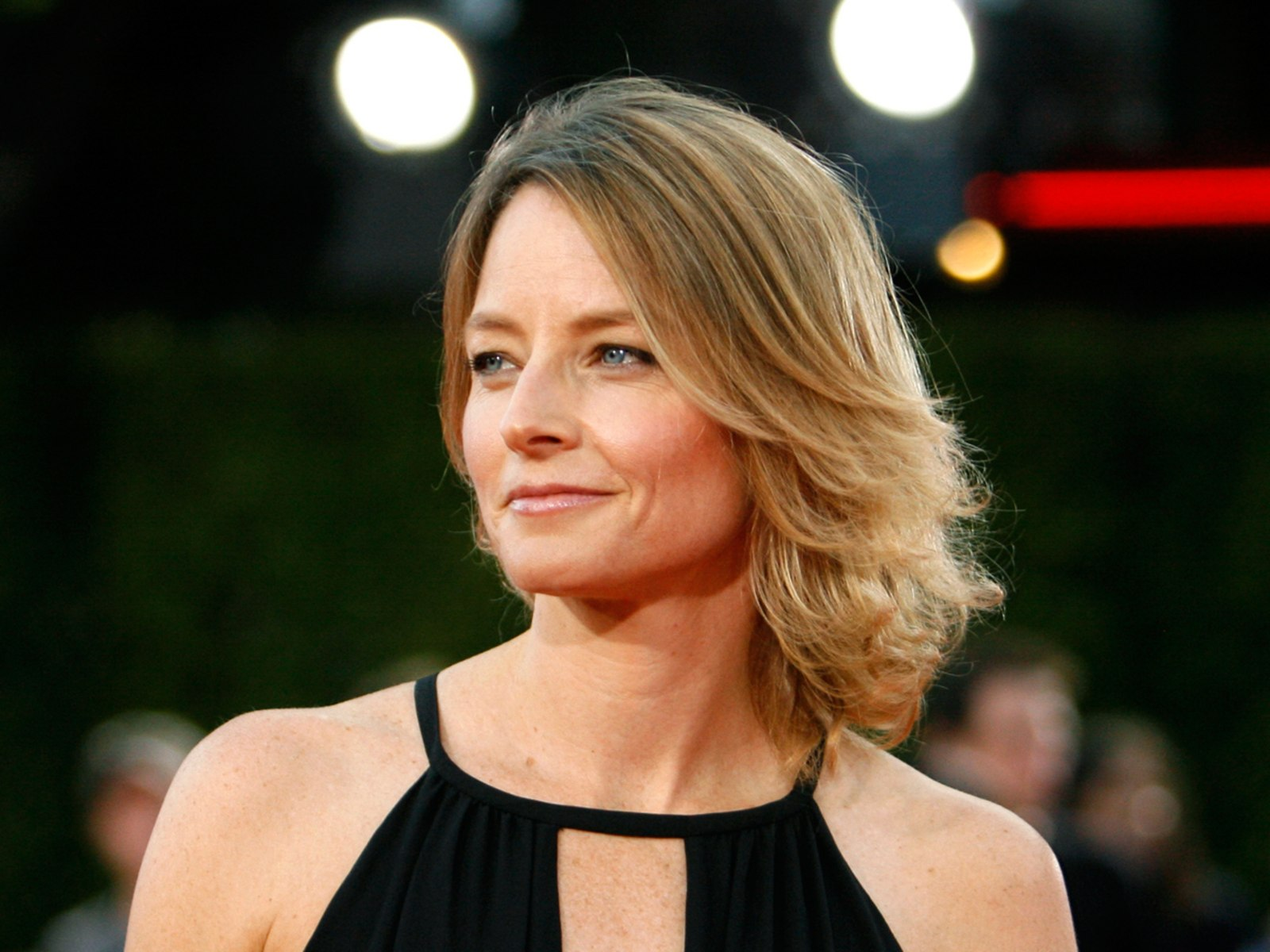"""Image: Actress Jodie Foster poses during premiere of """"Tropic Thunder"""" in Westwood"""