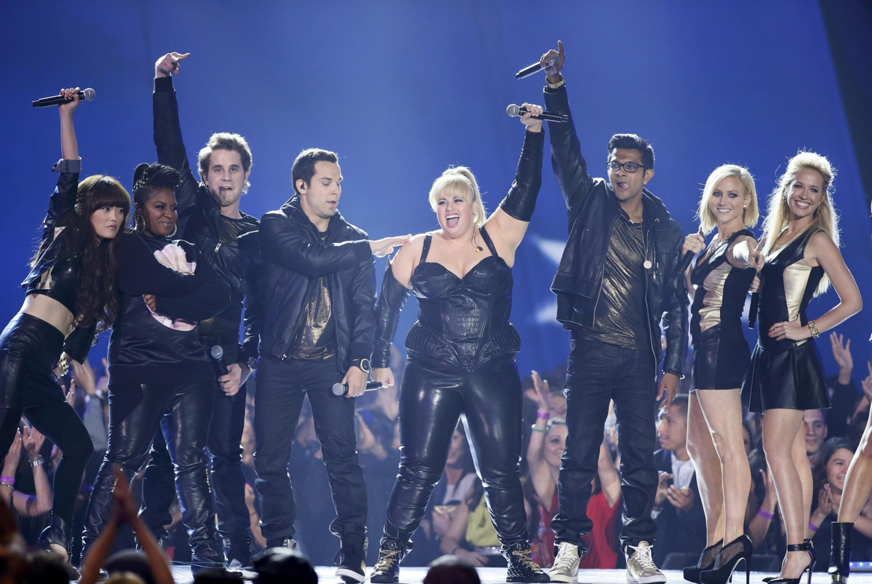 Image: Host Rebel Wilson opens the show at the 2013 MTV Movie Awards in Culver City, California