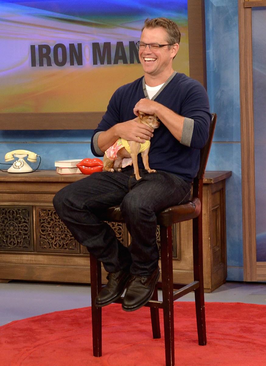 Image: Matt Damon Appears on Univision's Despierta America