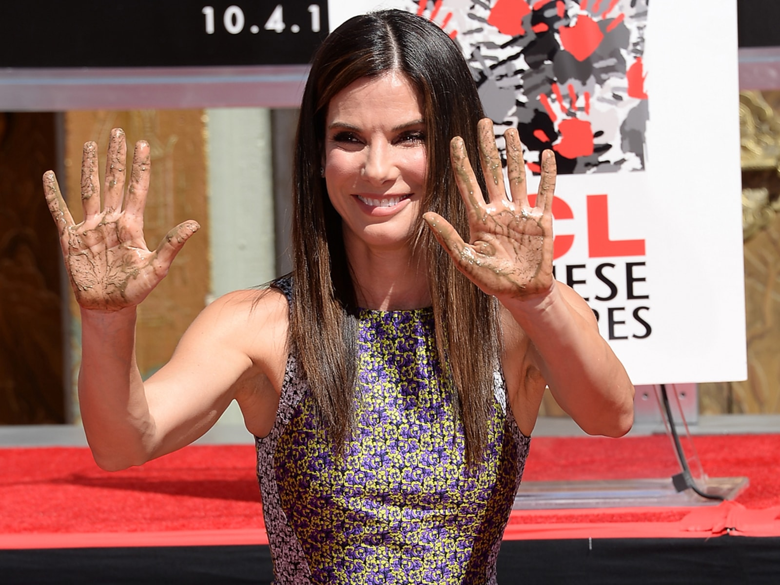 "Image: Sandra Bullock Immortalized With Hand And Footprint Ceremony At The TCL Chinese Theatre In Celebration Of Her New Film ""Gravity"""