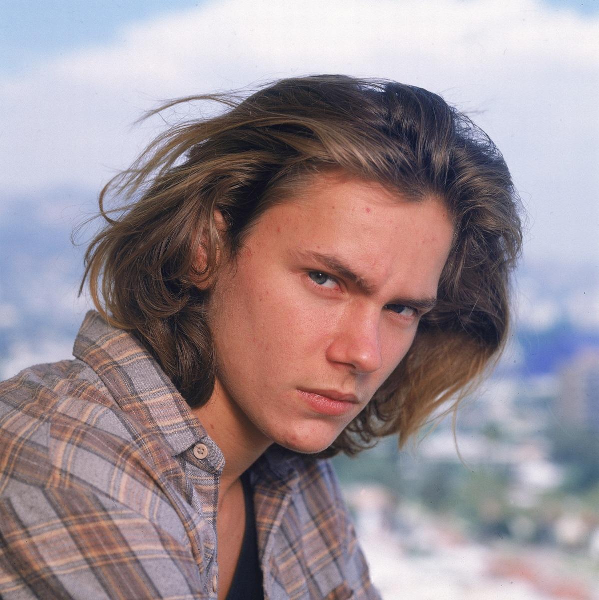 Outdoor Portrait Of Actor River Phoenix, 1991.