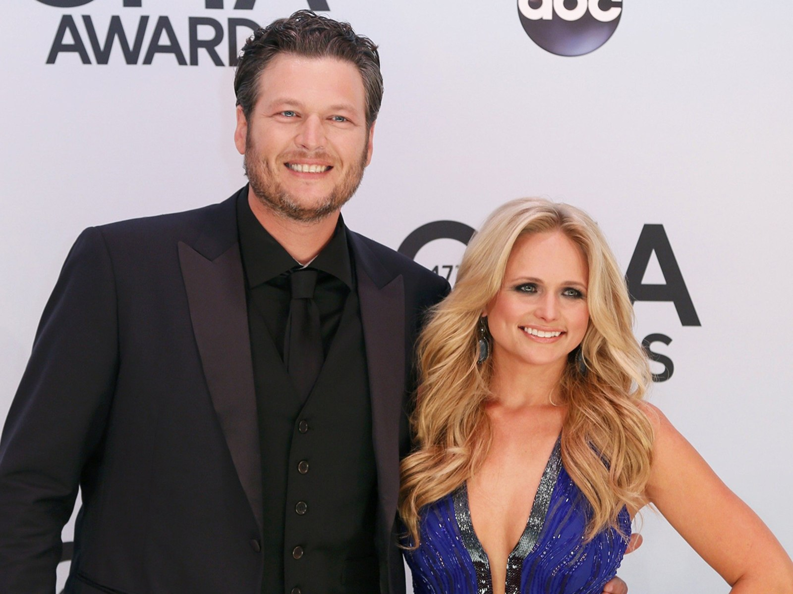 Image: Singer Blake Shelton and his wife, singer Miranda Lambert, arrive at the 47th Country Music Association Awards in Nashville, Tennessee