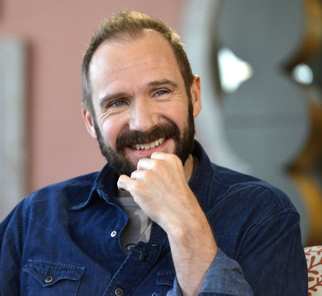 Image: Actor Ralph Fiennes speaks on the BBC's Andrew Marr Show, in this picture provided by the BBC, in London