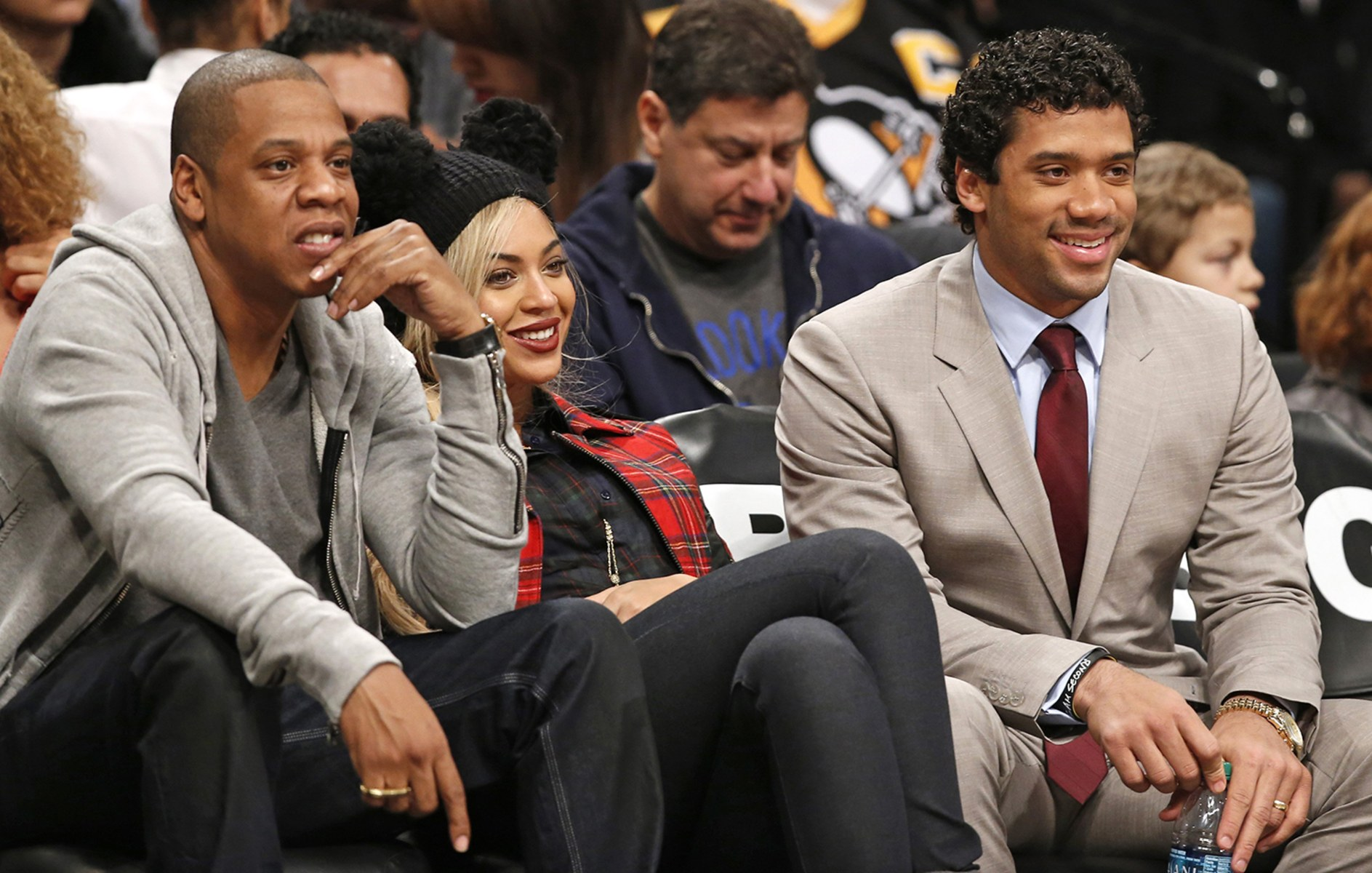 Image: Jay Z, Beyonce, Russell Wilson