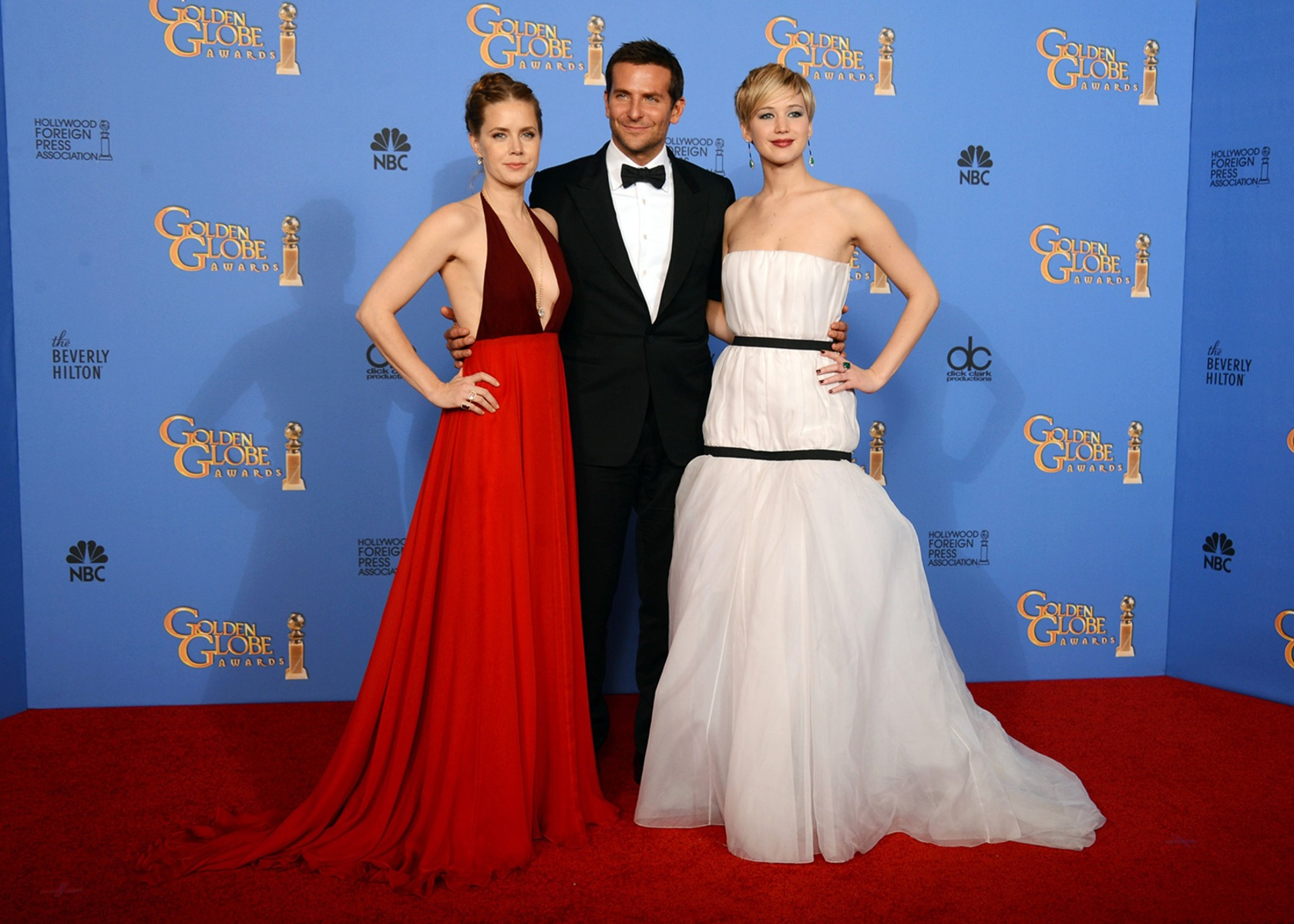Image: Amy Adams, Bradley Cooper, Jennifer Lawrence