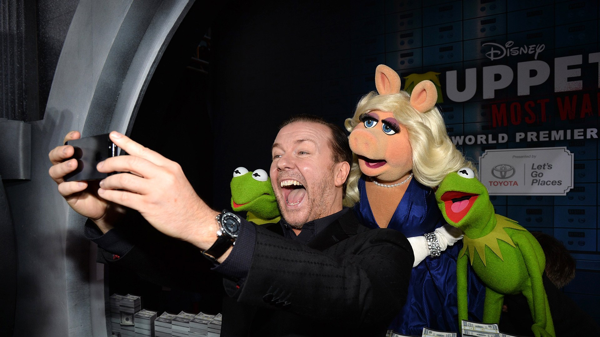 "Image: Premiere Of Disney's ""Muppets Most Wanted"" - Red Carpet"