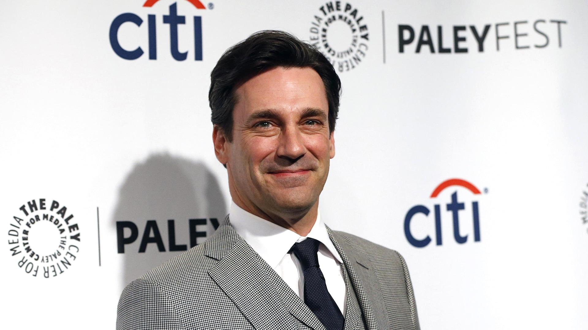 "Image: Cast member Hamm arrives for a panel discussion for TV series ""Mad Men"" during the PaleyFest in Hollywood"