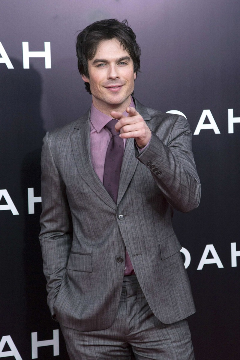 "Image: Actor Ian Somerhalder attends the U.S. film premiere of ""Noah"" in New York"