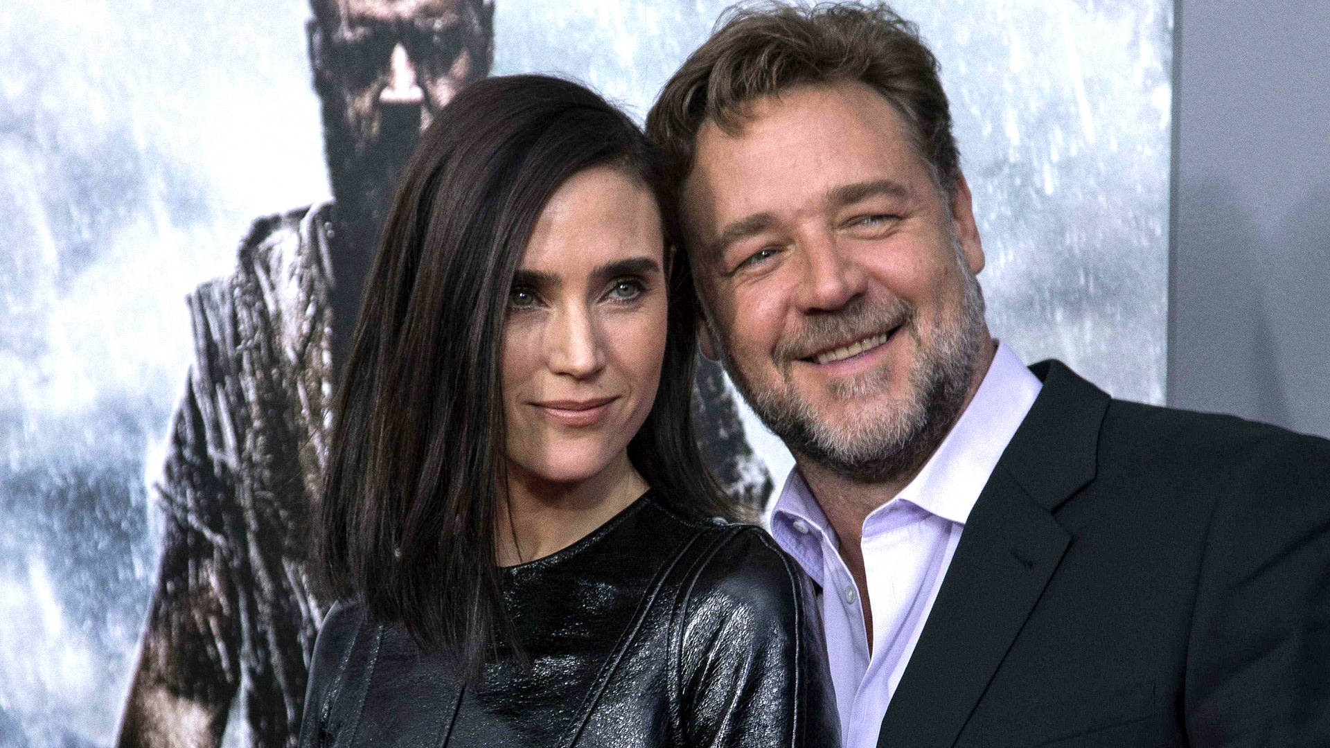"""Image: Cast members Connelly and Crowe attend the U.S. premiere of """"Noah"""" in New York"""