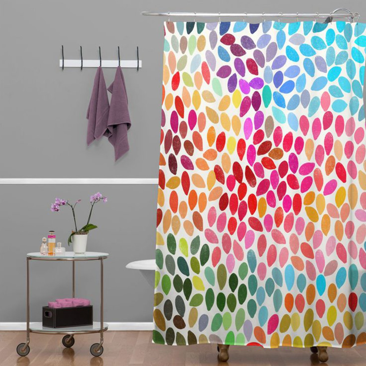 Bathroom ideas cheap and easy ways to make over your for Cheap childrens curtain fabric