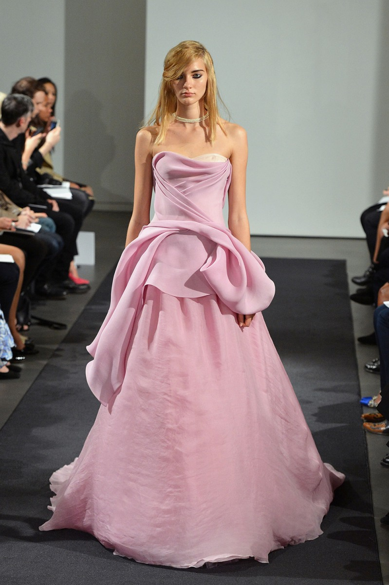 Wedding gowns: Pretty in pink — or green or purple - TODAY.com