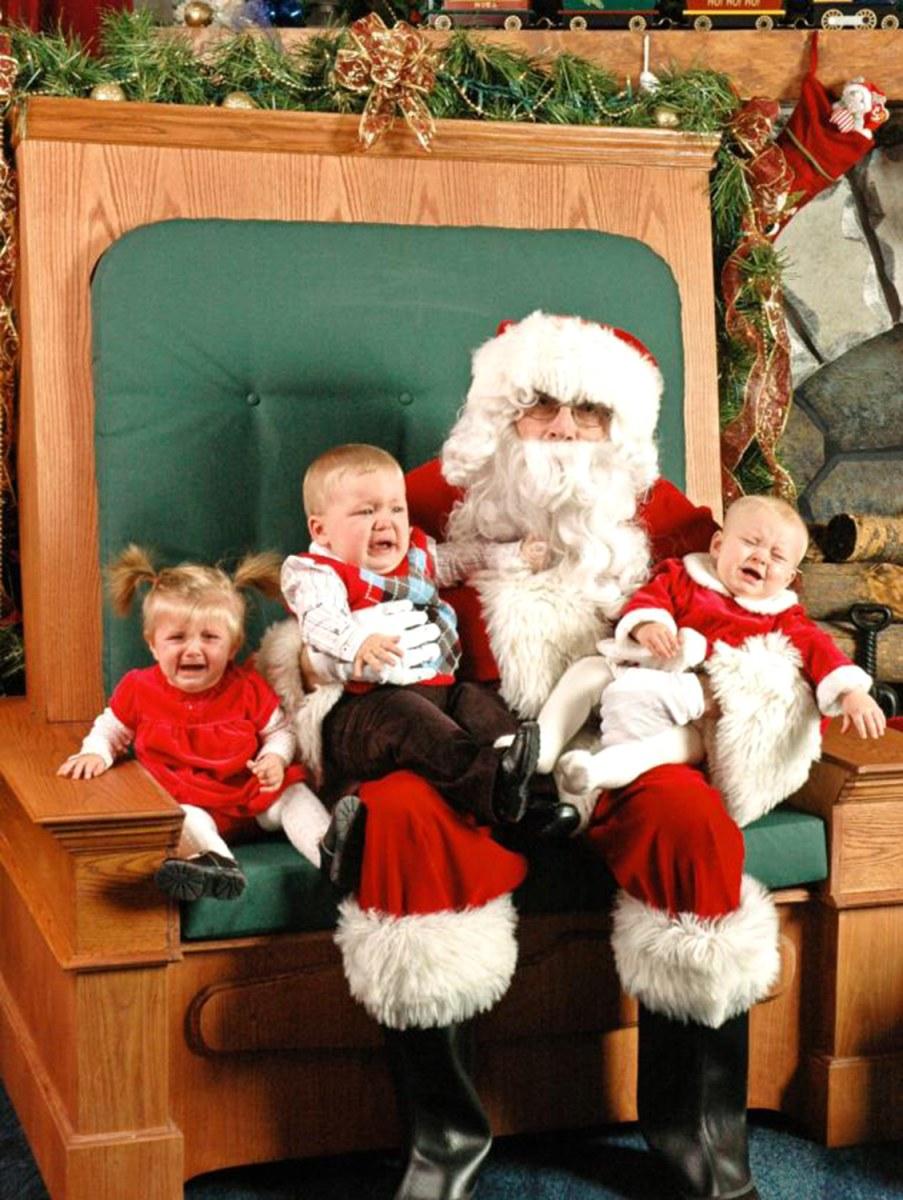 kids scared of santa 15 photos of hilarious ho ho horror todaycom - Kids Santa