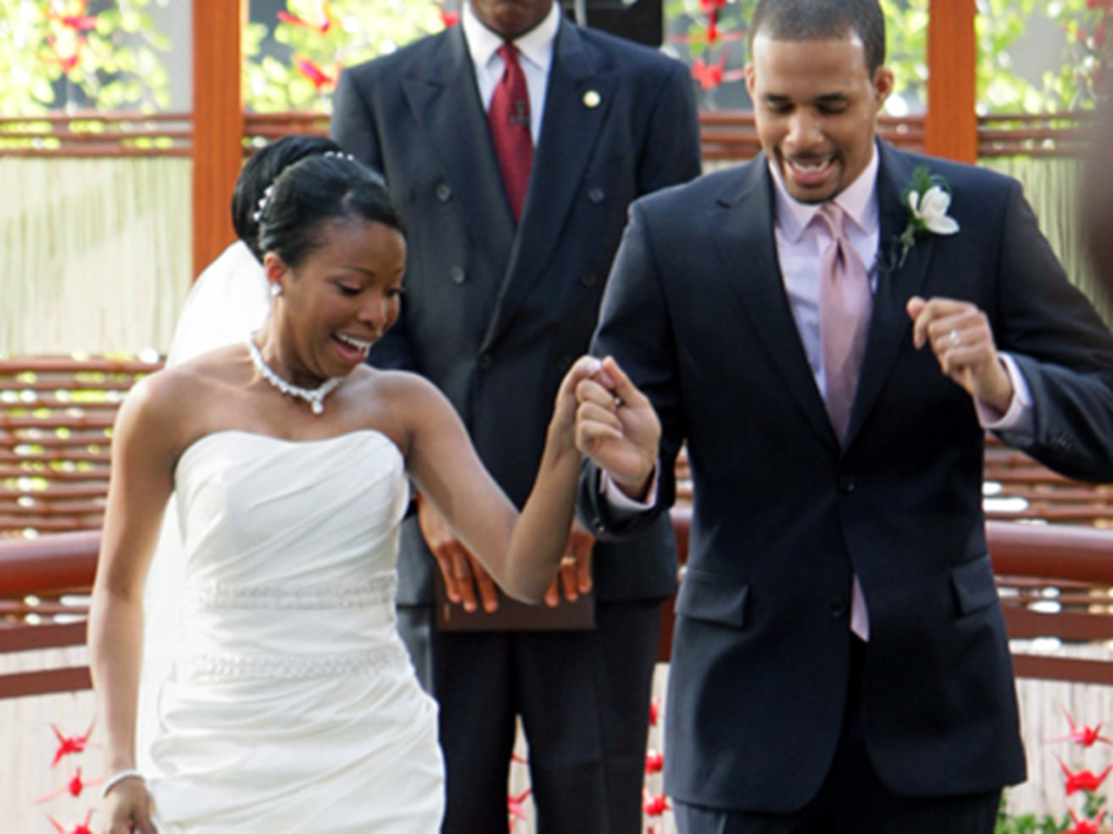 Image: LaDonna Bradford and Darnell Sugg on the set of the Today show wedding