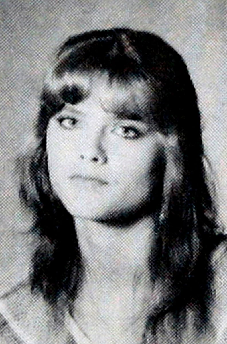 Celebrity Anna Nicole Smith's photo is seen in a 1985 Mexia High School year book under the name, Nikki Hart, in Mexia