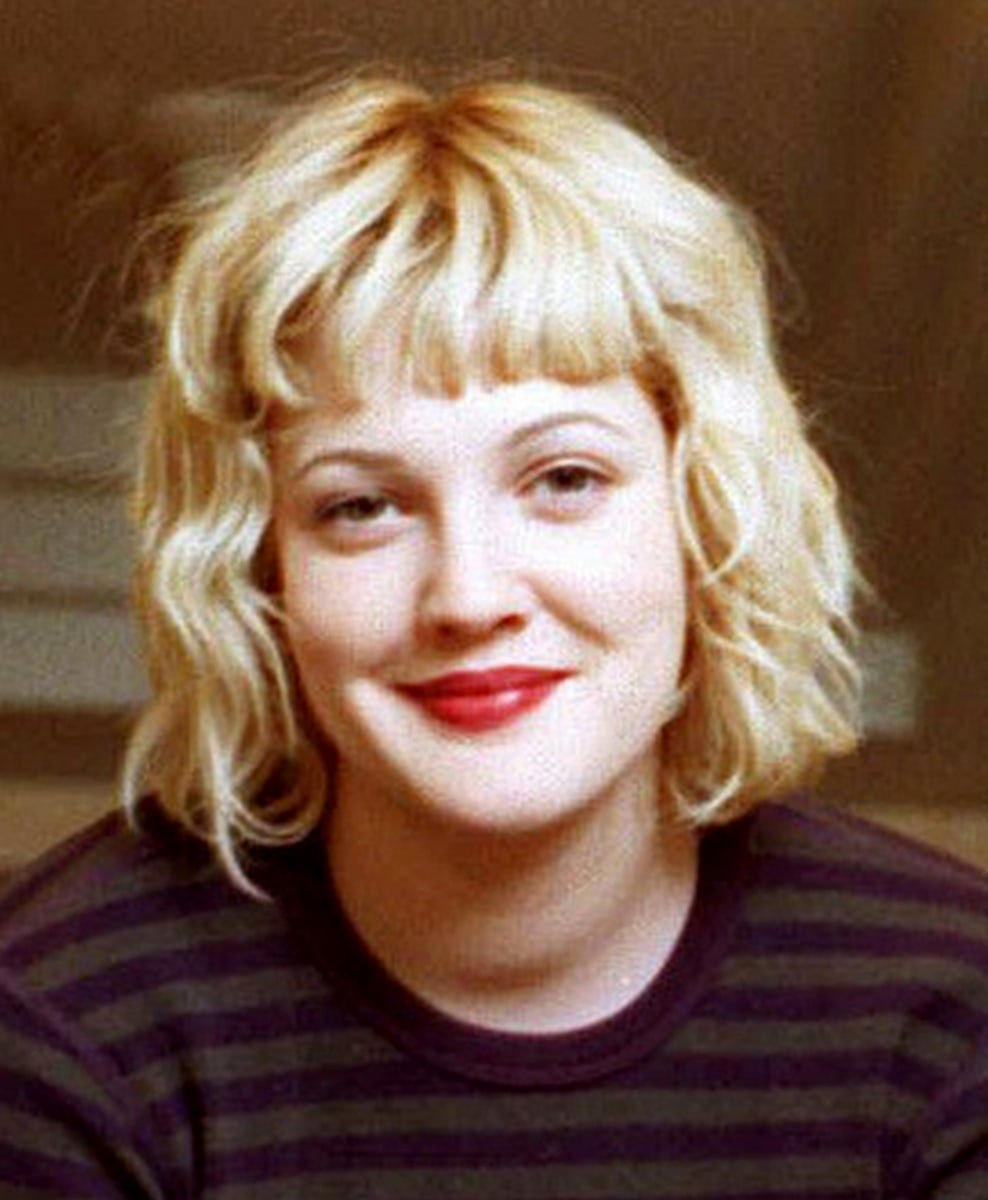Drew Barrymore's hair evolution: From 'E.T.' to big-shot Hollywoo... Drew Barrymore